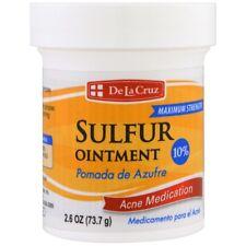 De La Cruz, Sulfur Ointment, Acne Medication, Treatment Maximum Strength, 73.7 g