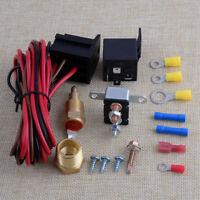 12V Elektrolüfter Thermostat Relais Set 175 185 Grad Radiator Kit 4-Pin Schalter