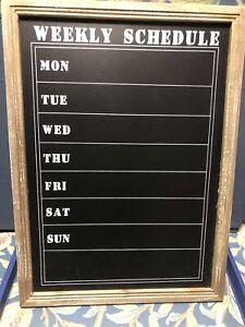 Gisela Graham WEEKLY SCHEDULE Chalkboard Planner Monday - Sunday Message Board