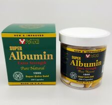 New & Improved Super Albumin Extra Strength Pure Natural 1500 mg 200 capsules