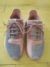 Ladies Older Girls UK 5.5 Adidas Tubular Shadow Trainers Salmon Pink