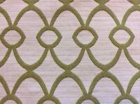 MPC228 High End Woven Green White Lattice Gate Graphic Design Fabric Sample