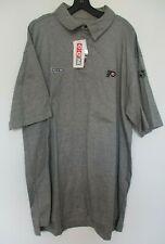 Philadelphia Flyers NHL Center Ice CCM Graphite Gray Polo Golf Shirt NWT XL