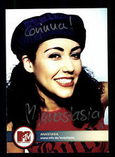 Anastasia MTV Autogrammkarte Original Signiert # BC 93519