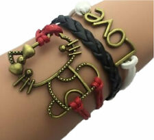 HELLO DESIGNS Multilayer Kitty Bracelet with Love Charm Perfect Cat Lover's Gift