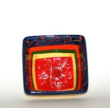 Spanish Ceramic Handpainted Square Bowl 9cm