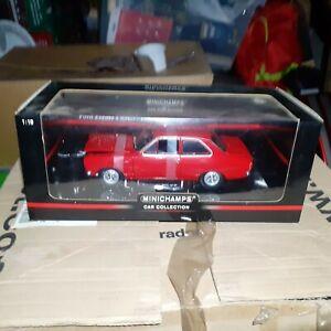 ford escort mk1 rhd 1968 1/18 scale minichamps red very rare NO RESERVE...