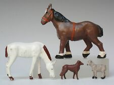 CRESCENT TOYS METAL FARM ANIMALS ~ FEEDING HORSE, SHIRE HORSE, DOG & LAMB #4