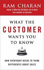 WHAT THE CUSTOMER WANTS YOU TO KNOW by Ram Charan FREE SHIP hardcover book sales