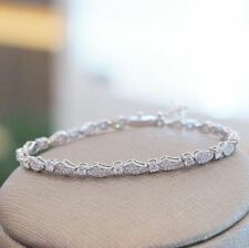8.00Ct White Real Loose Moissanite 925 Sterling Silver Tennis Bracelets