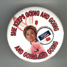 HILLARY Clinton 2008 pin Bunny Rabbit Energy pinback
