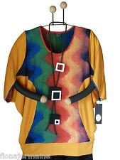Gr.46 48 50 52 54 56 Sehr weite legere Bluse Bigshirt Longshirt Batik Gelb