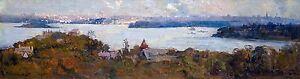 Arthur Streeton - Sydney Harbour from Penshurst / Cremorne, Art Print or Canvas