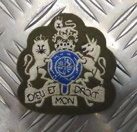 Genuine British Army  Warrant Officer Class 1 Badge  DIEU-ET Patch