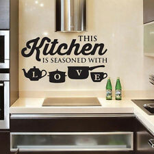 KITCHEN WALL QUOTES Removable Home Wall Transfer Interior Vinyl art Decal qu64