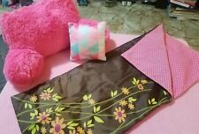 """Our Generation accessories for 18"""" Doll - Sleeping Bag, Headrest, & Pillow"""