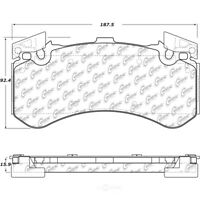 Disc Brake Pad Set Front Centric 104.15750