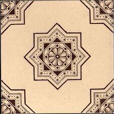 WTH Smith & Co Original Antique Sepia transfer tile VICTORIAN AESTHETIC STYLE