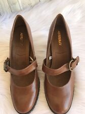 Aerosoles Mary Jane Pumps High Heel Shoes Brown Sleigh Bell Size 11M NWOB
