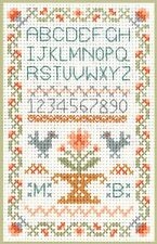 Mini Traditional Sampler - Cross Stitch Kit on 14 ivory aida great for beginners