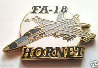 """FA-18 HORNET (1-1/4"""") US Navy Military Hat Pin P15933 EE"""