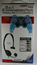 PlayStation 3 5-In-1 Expansion Pack BRAND NEW Lava Glow Controller + More! PS3