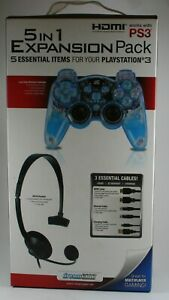 PlayStation 3 5 - In-1 Expansion Pack BRAND NEW Lava Glow Controller + More! PS3