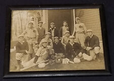 1911 - BASEBALL TEAM - SPRINGFIELD, MASS - ORIGINAL FRAMING - UNOPENED BACK