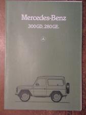 MERCEDES BENZ G SERIES orig 1982 UK Mkt Sales Brochure - 4x4 Wagen 300GD 280GE