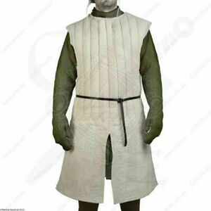 Gift Gambeson Medieval Padded play Thick White Without sleeves