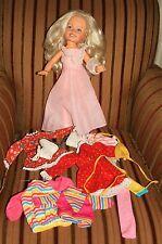 "16"" Kimberly Doll+Group of Asstd Clothing Ice Skates Beautiful Blonde Hair Redcd"
