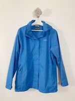 Regatta Great Outdoors Ladies Rain Jacket Size 18 Blue Long Sleeves Walk Hike