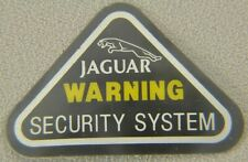 Jaguar Security System Window Sticker. NEW from Jaguar,  not reproduction