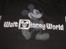 Men's X-Small Mickey Mouse Black Walt Disney World Tee Shirt Nwt