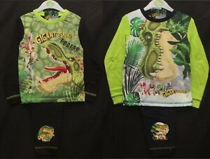 Boys GIGANTOSAURUS Pyjamas / Dinosaur PJs in 2 Designs Sizes 18 months-5 years