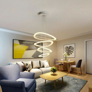 Round Art LED Rings Ceiling Pendant Fixture Chandeliers Home Living Bedroom NEW