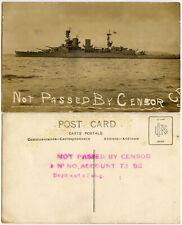 More details for ww1 naval censorship internal postcard not passed by censor handstamp ship photo