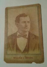 Vintage William J. Bryan Cabinet Card
