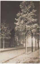 Eastbourne, Snowy Night Cornfield Road RP Postcard B766