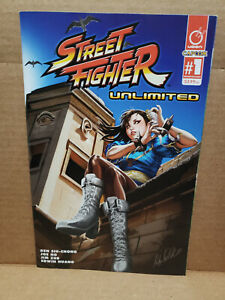 STREET FIGHTER UNLIMITED #1 AOD COLLECTABLES ASHLEY WITTER COLOR COVER UDON 2015