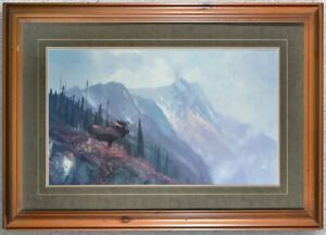 John Coleman Mountain Moose Limited Edition Giclee Print on Canvas 30x40
