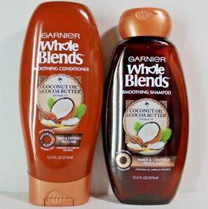 GARNIER Whole Blends COCONUT OIL & COCOA BUTTER Shampoo & Conditioner 12.5oz