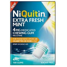 Niquitin Extra Fresh Mint Gum 4mg 100 pack EXPIRY 04/2019 Nicotine Replacement
