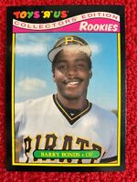1987 Toys R Us #4 ~ Barry Bonds Rookie Card RC ~ Zoooom in on the pics!
