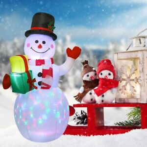 5ft Christmas Inflatable LED Light Up Snowman Toy Airblown Holiday Decoration