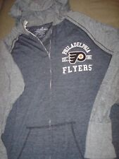 NHL WOMENS PHILADELPHIA FLYERS GRAY SWEATSHIRT WITH HOOD