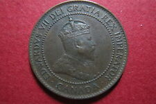 """CANADA, """"Scarce"""" & Antique  1902  ONE CENT LARGE BRONZE COIN, King Edward VII"""