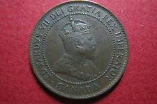 "CANADA, ""Scarce"" & Antique  1902  ONE CENT LARGE BRONZE COIN, King Edward VII"