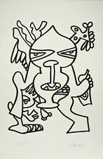 Charles LAPICQUE- Estampe originale- Lithographie - Le grand chef