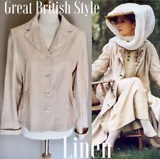 AVOCA RENAISSANCE CREAM LINEN JACKET BUTTON 10  BNWOTS